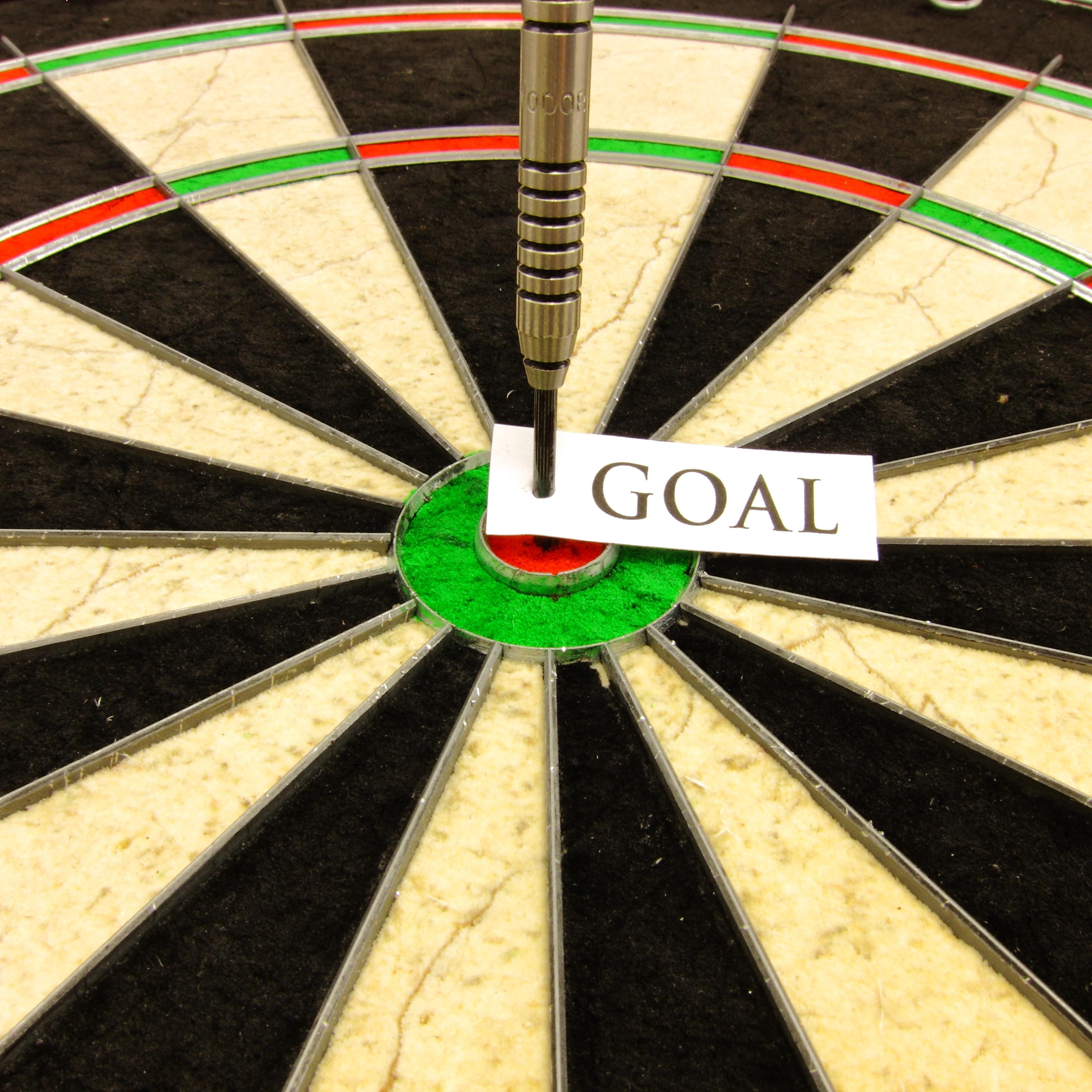 Themed photo 'Reaching your goal via a bullseye'